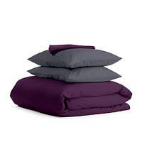 Комплект семейного постельного белья сатин VIOLET GREY-P