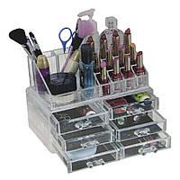 Акриловый органайзер для косметики Cosmetic Storage Box 6 секций D1011