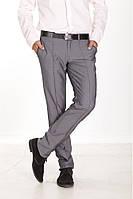 Мужские брюки классического кроя с стрелками, серо-синие, серые