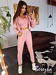 Женский стильный спортивный костюм-тройка: мастерка с капюшоном, топ и брюки (в расцветках), фото 5