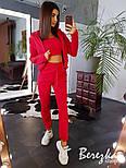 Женский стильный спортивный костюм-тройка: мастерка с капюшоном, топ и брюки (в расцветках), фото 8