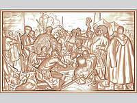 Картина резная из дерева «Запорожцы»