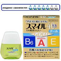 LION Smile 40EX GOLD витамины A, E, B6 и таурин для улучшения фокусировки зрения и от усталости