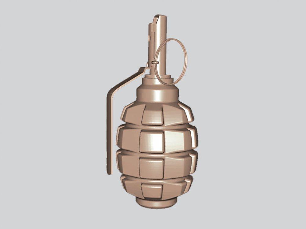 Оружие резное из дерева, граната Ф1
