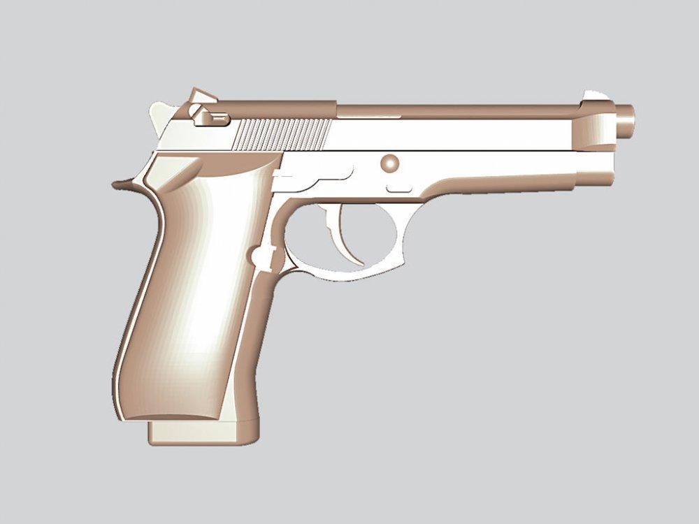 Оружие резное из дерева, пистолет Беретта 92