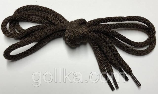 Шнурки круглые коричневые