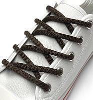 Шнурки простые круглые темно-коричневые 100 см (Толщина 5 мм), фото 1