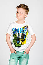 Дитяча футболка для хлопчика Desigual Іспанія 40T3646 Білий