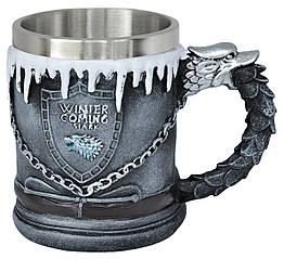Кружка Game of Thrones (Дом Старков герб)