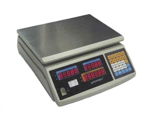 Весы торговые до 30 кг ВТД-ЕЛ1 с поверкой Днепровес