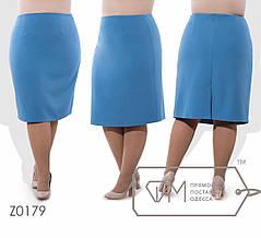 Классическая женская юбка в деловом стиле батал с 56 по 62 размер, фото 2