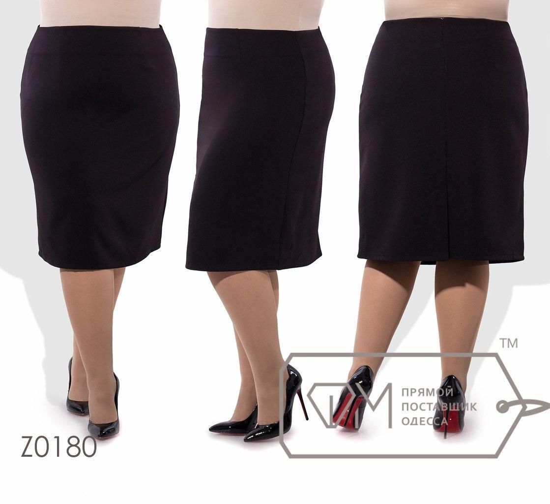 Классическая женская юбка в деловом стиле батал с 56 по 62 размер