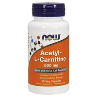 NOW Acetyl-L-Carnitine 500 mg 50 caps