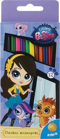 Карандаши трехгранные   «Pet Shop», 12 цветов, фото 2