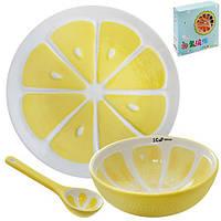Посуда детская 3пр/наб (тарелка 20см, супница 12.5см, ложка 12см) R85692