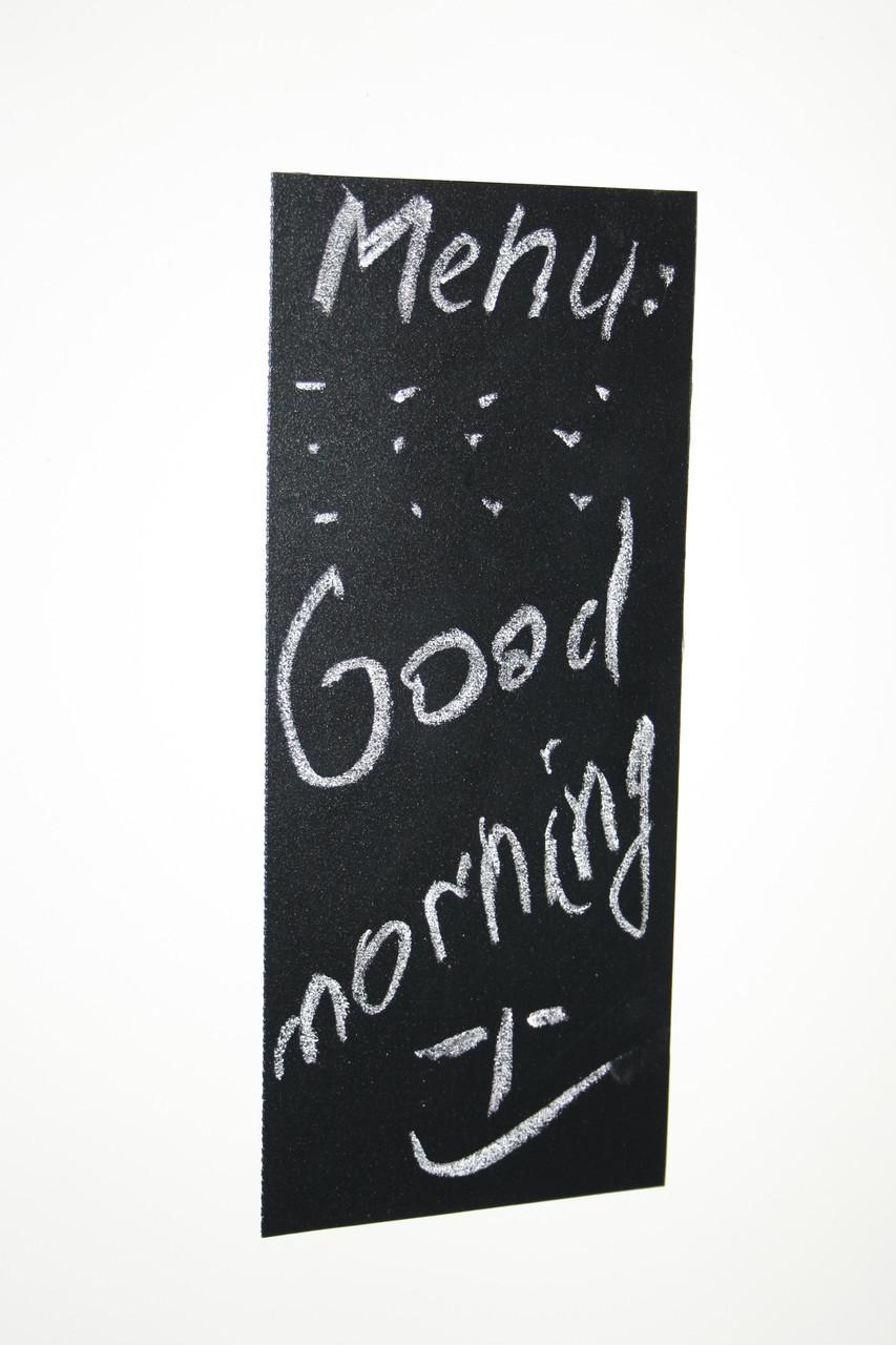 Меловая магнитная табличка на холодильник А5 15 см х 20 см  Доски на холодильник. Грифельная черная