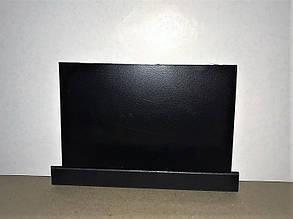 Дошка крейдова на холодильник 15х30 см. Магнітна з поличкою для маркера