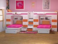 Детская кровать для четверых детей ДМ 722