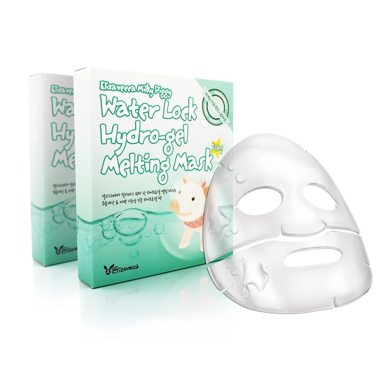 Гидрогелевая лифтинг-маска ELIZAVECCA Milky Piggy Water Lock Hydrogel Melting Mask, 1 шт)