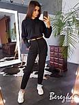 Женский стильный спортивный костюм-двойка: укороченное худи с капюшоном и брюки-карго (в расцветках), фото 5