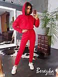 Женский стильный спортивный костюм-двойка: укороченное худи с капюшоном и брюки-карго (в расцветках), фото 8