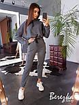 Женский стильный спортивный костюм-двойка: укороченное худи с капюшоном и брюки-карго (в расцветках), фото 9