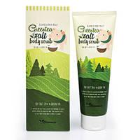 Скраб для тела с экстрактом зеленого чая ELIZAVECCA Milky Piggy Greentea Salt Body Scrub, 300 мл
