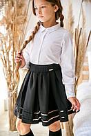 Юбка черная для девочки Алиса тм Angel размер 146, фото 1