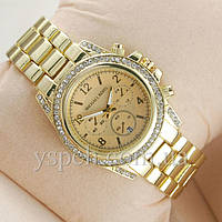 Женские Часы Michael Kors Classic Gold Diamonds