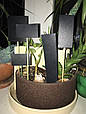 Табличка меловая 7х10 см на палочке для цветов, растений, рассады. Черный грифельный ценник, фото 3