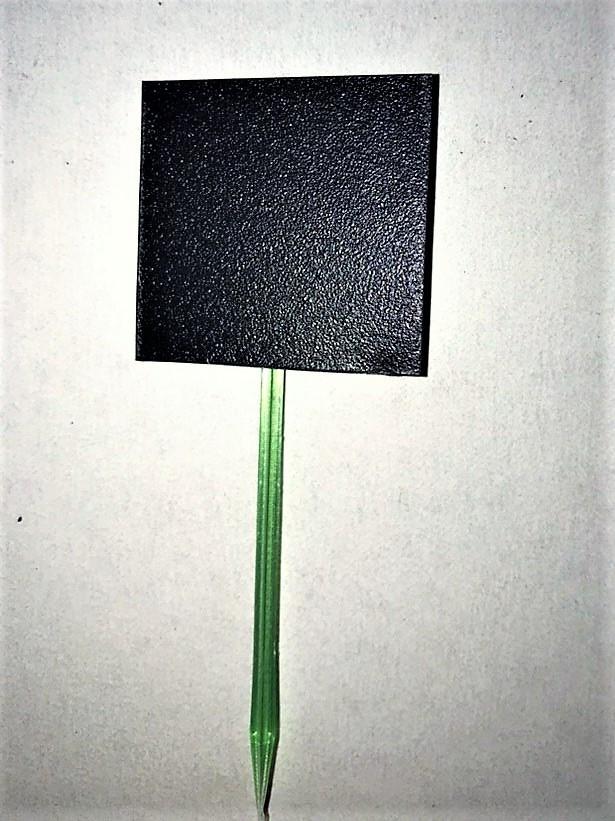Табличка для специй, растений, рассады. 5х5 см. Меловая. Грифельная. Пластиковая шпажка