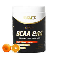 Аминокислоты бцаа Evolite Nutrition  BCAA 2:1:1  400g (Crazy Orange)