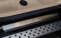 Защитные хром накладки на пороги BMW X6 (e71/e72) (бмв х6 (е71/е72 кузова)) 2008г+