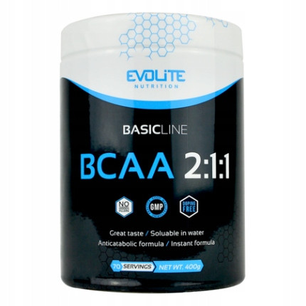 Аминокислоты бцаа Evolite Nutrition  BCAA 2:1:1  400g (Currant Cocktail)