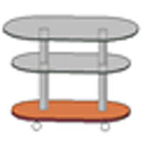 Стіл скляний журнальний СТ-608