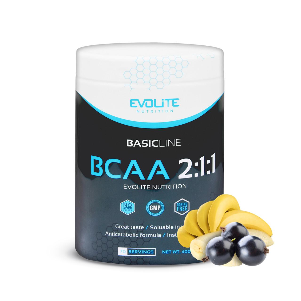 Аминокислоты бцаа Evolite Nutrition  BCAA 2:1:1  400g (Exotic Twist)