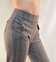 Брюки женские для офиса в клетку  с карманами и в больших размерах 2XL - 6XL, фото 3