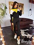 Женский спортивный / прогулочный костюм с контрастными вставками и лампасами(в расцветках), фото 8