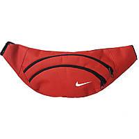 Сумка на пояс, бананка спортивная в стиле Nike красная