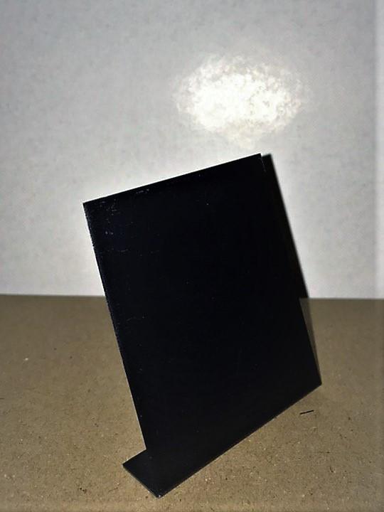Крейдяний цінник 4х3 см L-подібний. Вертикальний. Для написання крейдою і маркером.