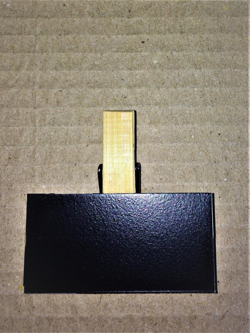 Ценник меловой 3х5 см на прищепке для надписей мелом и маркером. Грифельная табличка. Крейдовий цінник