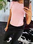 Женский стильный костюм: боди-футболка и брюки с лампасами (в расцветках), фото 2