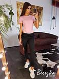 Женский стильный костюм: боди-футболка и брюки с лампасами (в расцветках), фото 5