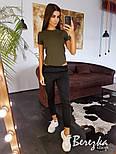 Женский стильный костюм: боди-футболка и брюки с лампасами (в расцветках), фото 3