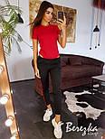 Женский стильный костюм: боди-футболка и брюки с лампасами (в расцветках), фото 10