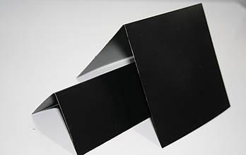 Крейдяний цінник 3х3 см V-подібний подвійний для написання крейдою і маркером. Крейдовий
