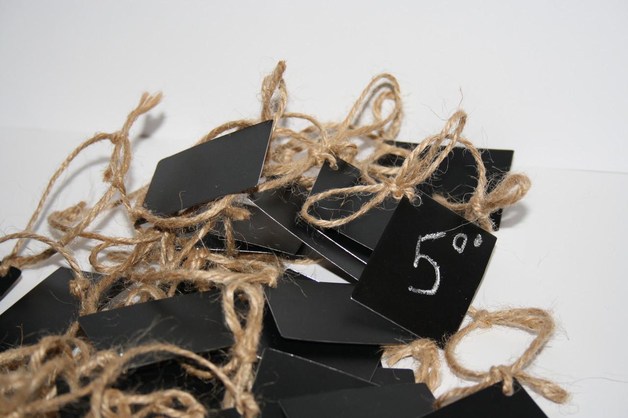 Цінник крейдяної 8х8 см Для написання крейдою і маркером. Для пляшок, ємностей, і т. д. Грифельної