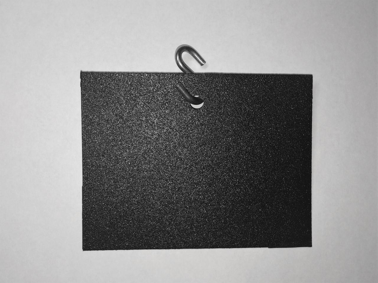Цінник підвісний 6х8 см s-подібним гачком крейдяної. Грифельна табличка. Для крейди і крейдового маркера