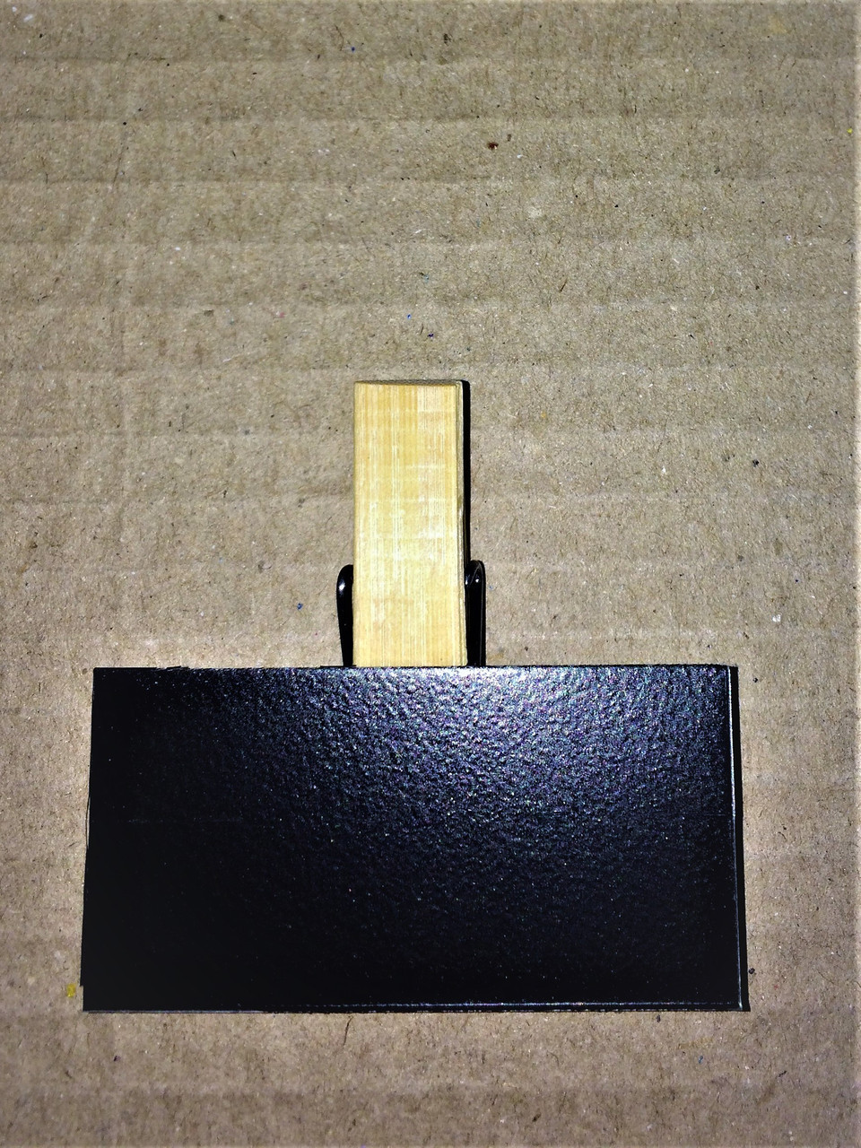 Ценник меловой 4х4 см на прищепке для мела и маркера. Грифельная табличка. Крейдовий цінник чорний