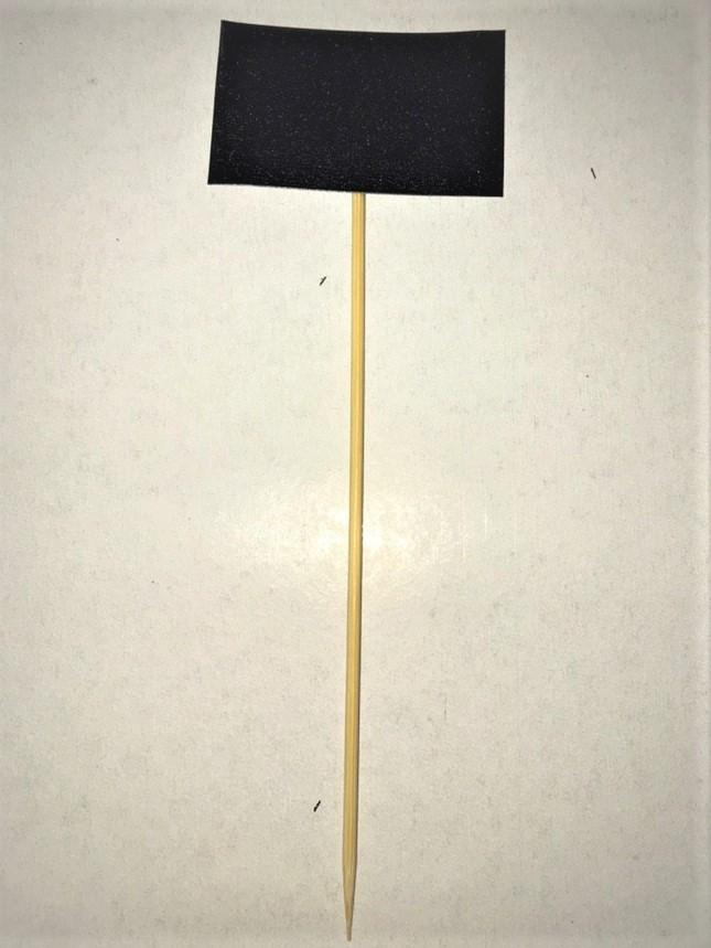 Ценник меловой 5х5 см на деревянной иголке. Грифельная табличка.